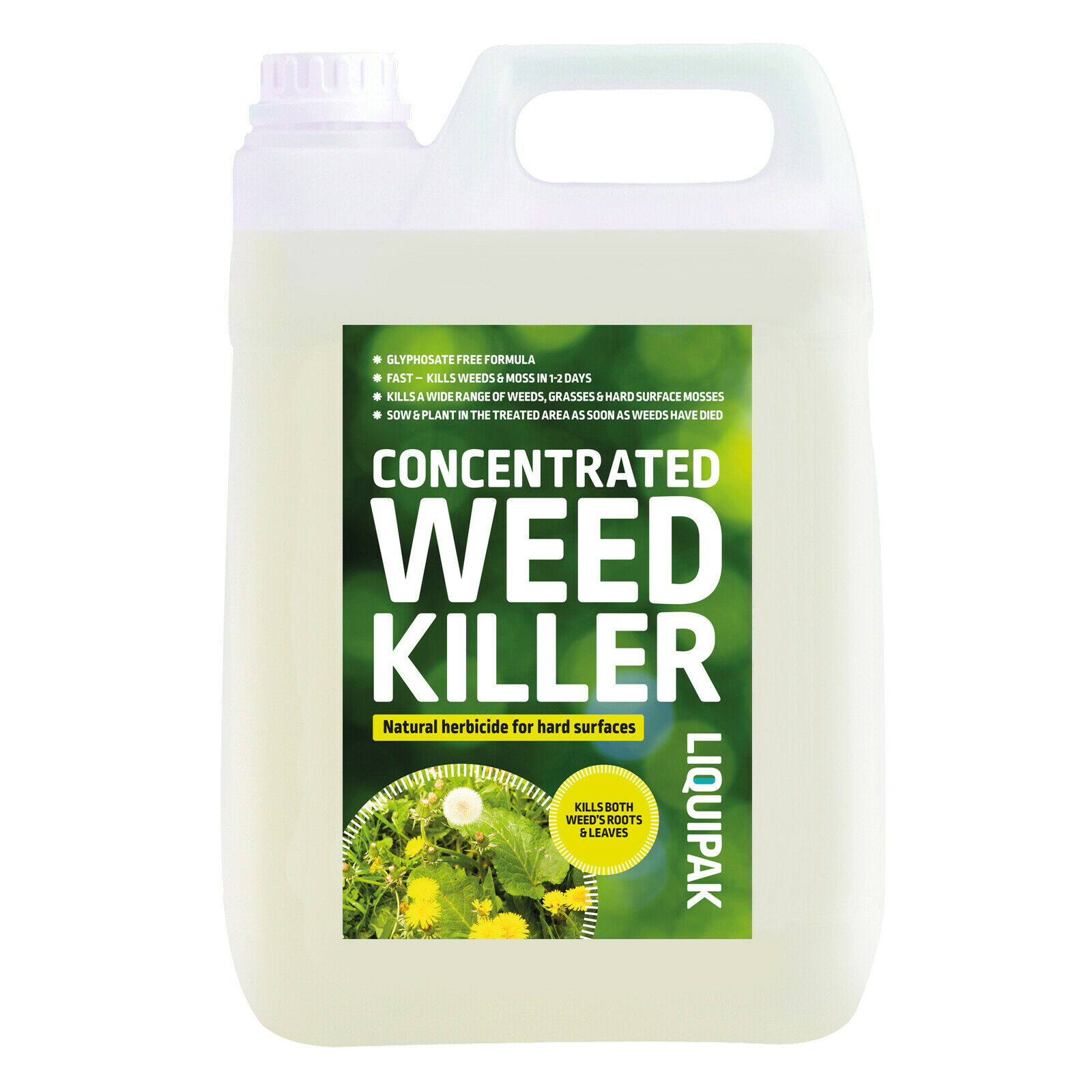 Weed Killer Natural Herbicide, Strong Glyphosate Free, Extra Concentrated 5L