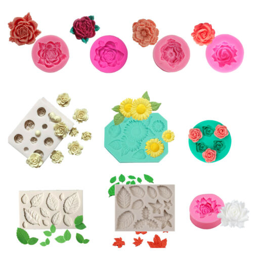 3D Flower Cake Mold Cookie Mould Rose Silicone DIY Fondant Candy Mold Cupcake