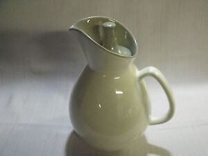 "VINTAGE MODERNIST MID CENTURY DANISH 9"" TWO TONE 1 1/2 QUART CERAMIC PITCHER"