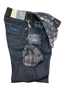 Jeans-Tramarossa-Mod-LEONARDO-demin-QUADRO-GRIGIO-confort-print-Uomo