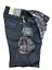 Jeans-Tramarossa-Mod-LEONARDO-demin-QUADRO-GRIGIO-confort-print-Uomo miniatura 1