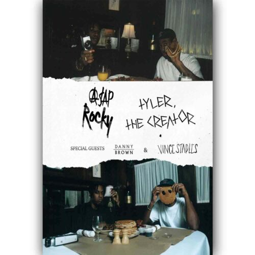Custom Personalized Silk Poster ASAP Rocky and Tyler the Creator Wall Decor