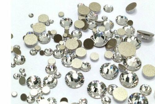 Swarovski Kristalle Strass Steine nein hotfix Klar AB für Nägel Kunst