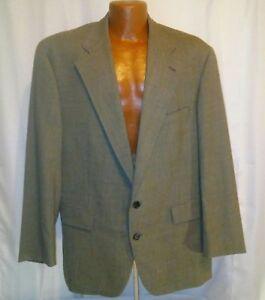 Chaps-by-Ralph-Lauren-Mens-Vintage-Gray-Wool-Striped-Sports-Blazer-Size-46R