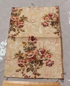 French-Antique-Woven-Floral-Jacquard-Tapestry-Sample-Fabric-Cotton-18-034-X-12-5-034