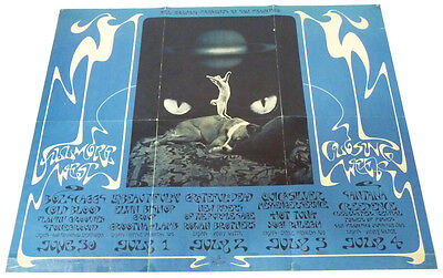 Fillmore West  Closing Week  Bill Graham presents in San Francisco  1971  BG 287  2nd State printing Excellent Condition