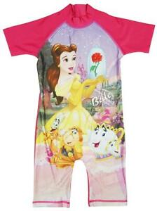 445786c330d7b Girls Beauty & The Beast Belle Surf Swimming Suit Sunsafe Costume ...