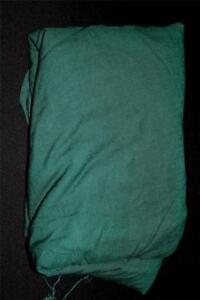 Rare-Vintage-Deadstock-1950-039-s-Dark-Forest-Green-Linen-Fabric-10-yd-L-x-37-034-W