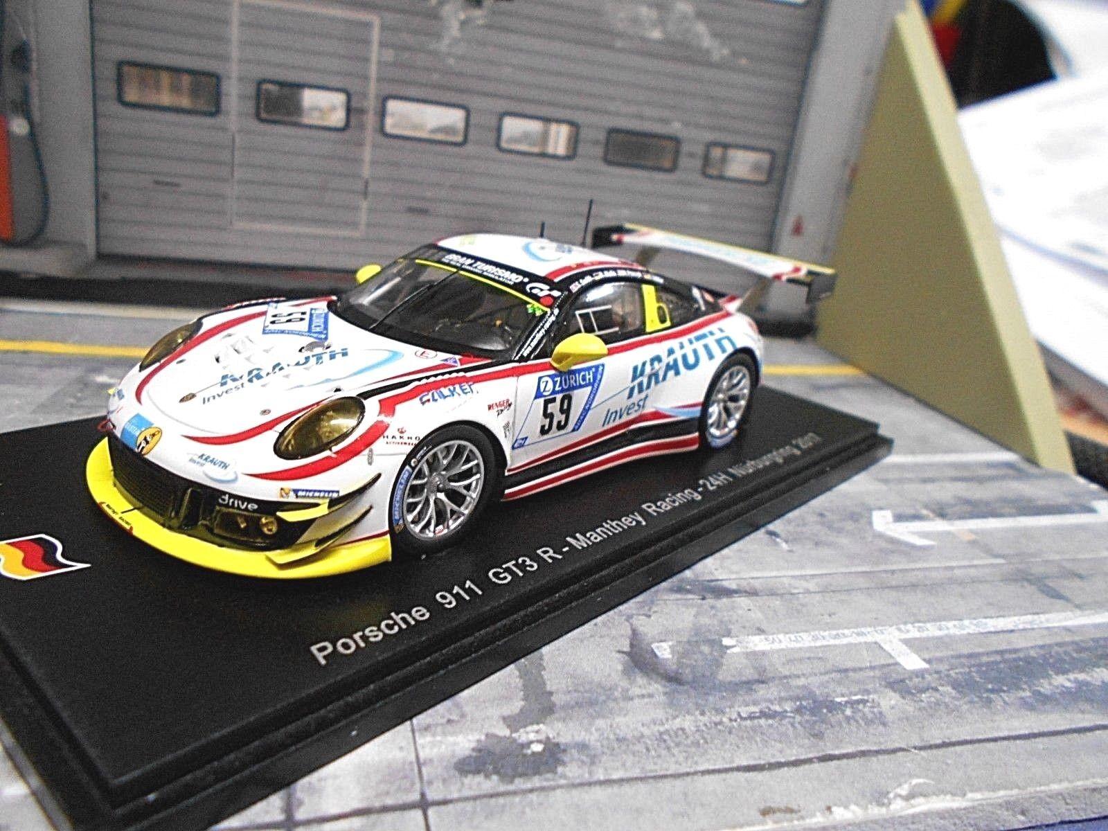 PORSCHE 911 991 GT3 R Manthey 24h Nürburgring 2017 Krauth  59 Müller Spark 1 43
