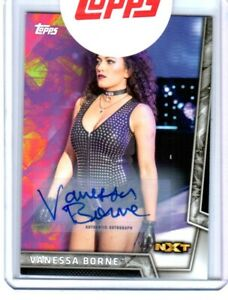 WWE-Vanessa-Borne-2018-Topps-Women-039-s-Division-Authentic-Autograph-Card-SN135-199