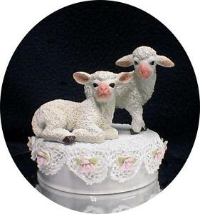 Cute Lamb Sheep Wedding Cake Topper Top Country Western Barn Red Neck Dollie