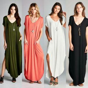 feb8fd466b1a oversize maxi t-shirt dress short Sleeve Loose fit rayon S M L 1X 2X ...