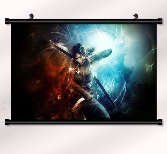"Tomb Raider Underworld Lara Game Fabric poster  wall scroll 22"" x16"" Decor 26"