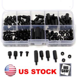 180 Pcs M3 Nylon Hex Spacers Screws Nuts Standoff Assortment Kit Box for PCB New
