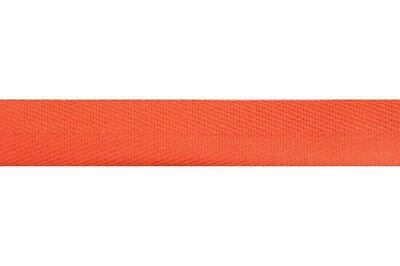 Cinta de algodón de espiga cinta 20mm Ancho-Naranja-Por Metro