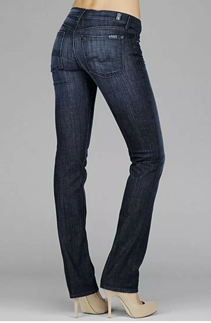 Seven FAM 7 for all mankind Straight Leg In Los Angeles Dark Size 30 Skinny