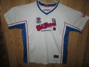 OLD SKOOL 96 White Jersey URBAN WEAR COTTON BLEND SPORTING SHIRT ...