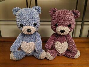Lilac handmade toy gift for her blythe friend Teddy bear Mainiature ooak artist teddy bear