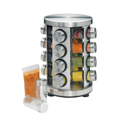 Küchenprofi 2603002816 Gewürzständer 30,8x20cm mit 16 Gläsern rund Edelstahl