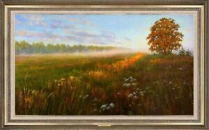 "Hand painted Oil painting original Art Landscape Flower tree on canvas 24""x40"""