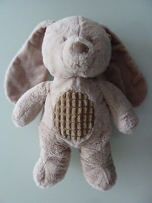 *- Doudou Peluche Lapin Tex Baby Nicotoy Taupe Beige Marron Clair 36cms - Ttbe