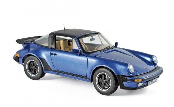 Norev 187663 Porsche 911 930 Turbo 3.3 Targa 1987 blue blue blue metallic 1 18 Modellauto b1c2b2