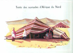 IMAGE-CARD-60s-TYPE-HOUSE-Tente-Nomades-Afrique-du-Nord-Tent-Nomad-North-Africa