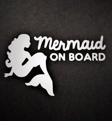 Mermaid on Board Vinyl Decal for laptop windows wall car boat