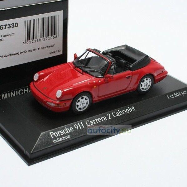 MINICHAMPS PORSCHE 911 CARRERA 2 CABRIOLET INDISCHROT 430067330