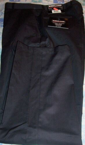 BLACK 38X32 NWT KIRKLAND PREMIUM FLAT FRONT CHINO KHAKI  PANTS