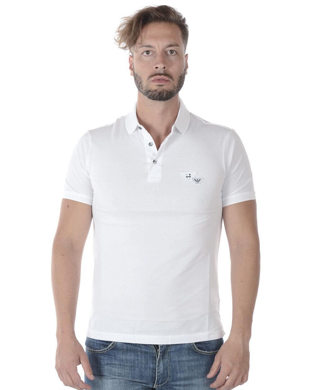 Polo Emporio Armani Shirt Cotone Uomo Bianco 3Z1FL51JQYZ 100