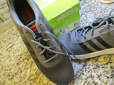 NEW ADIDAS NEO LITE RACER RUNNING SHOES MENS 13 F98239 GRAY FREE SHIP