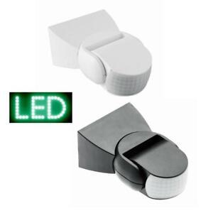 Bewegungsmelder-Aussen-LED-180-IP44-10-1200W-schwarz-Sensor-Infarot-Schalter
