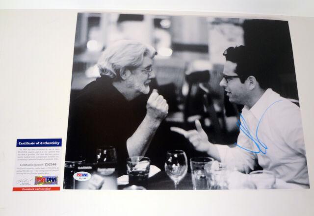 JJ ABRAMS STAR WARS THE FORCE AWAKENS SIGNED AUTOGRAPH 11X14 PHOTO PSA/DNA COA G