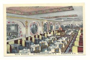 WASHINGTON-DC-Blue-Mirror-Restaurant-amp-Lounge-Vtg-Linen