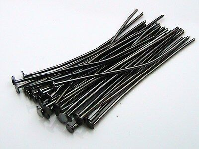 25 x Extra Long 70mm 7cm Silver Eye Pins 0.5mm Jewellery Craft Finding Beading