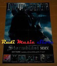 POSTER metal PROMO DIMMU BORGIR STORMBLAST 84 X 59,5 cm NOcd dvd vhs lp live mc