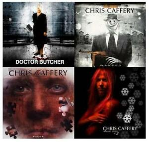 Lot-of-4-new-CHRIS-CAFFERY-CD-039-s-of-Savatage-Doctor-Butcher-Faces-W-A-R-P-E-D