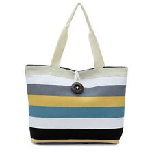Lady stripes Canvas Bag Shopping Handbag Shoulder Tote Purse Satchel Bag M1