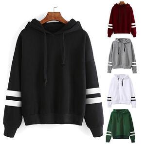 damen lang rmlig kapuzenpullover sweatshirt pullover mit. Black Bedroom Furniture Sets. Home Design Ideas