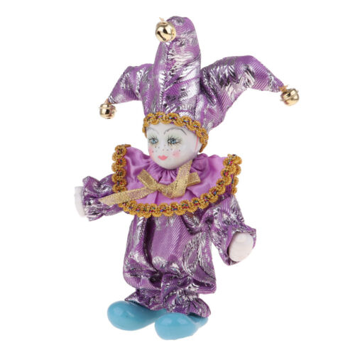 Porcelain Doll Collection Italian Triangel Doll Clown Model Home Decor #A