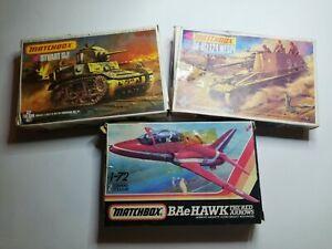 MATCHBOX-Kit-Modello-LOTTO-BUNDLE-STUART-e-WESPE-TANK-Boxed