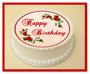 Image Is Loading ROSES HAPPY BIRTHDAY EDIBLE CAKE Amp CUPCAKE TOPPER