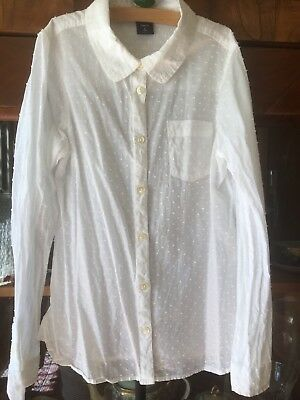 NWT $40 GAP Kids Girls Smocked Embroidered Peasant Blouse Shirt Top S L 6 7 10