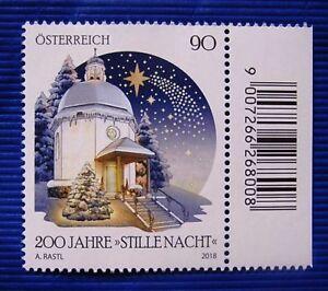 Weihnachten-2018-200-Jahre-034-STILLE-NACHT-034-Mi-3440-Osterr-SM-2018-Randstk