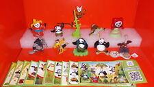 Complete Collectible Figures Set KUNG FU PANDA 1 2 3  Miniatures KINDER SURPRISE