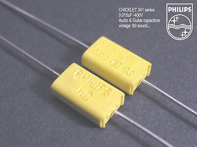 Capacitor 0.01uf 400 V 10/% philips Chicklet MKC 341-5 pieces
