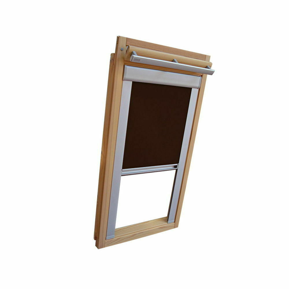 Projoección visual persiana ferrocarril ventana de tejado para persiana VELUX vu vl y vku-marrón oscuro