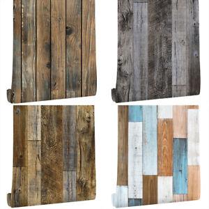 Wood Plank Self Adhesive Wallpaper Furniture Wall Stickers Bedroom Living Room Ebay