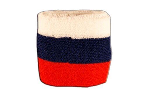 Schweißband Fahne Flagge Russland 7x8cm Armband für Sport